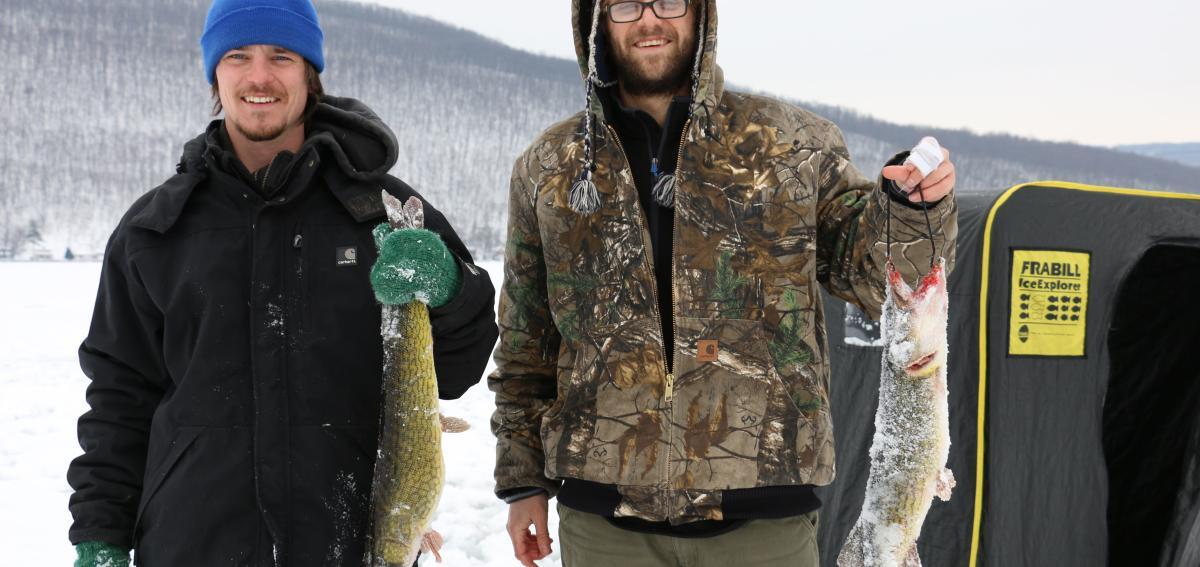 Ice Fishing on Canandaigua Lake