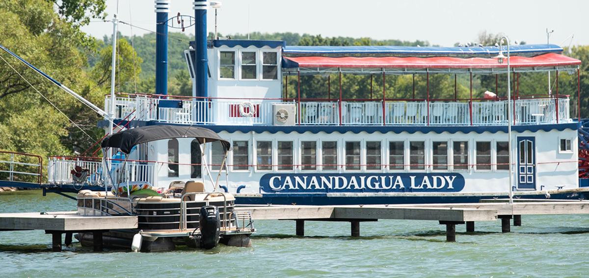 Canandaigua Lady docked on Canandaigua Lake