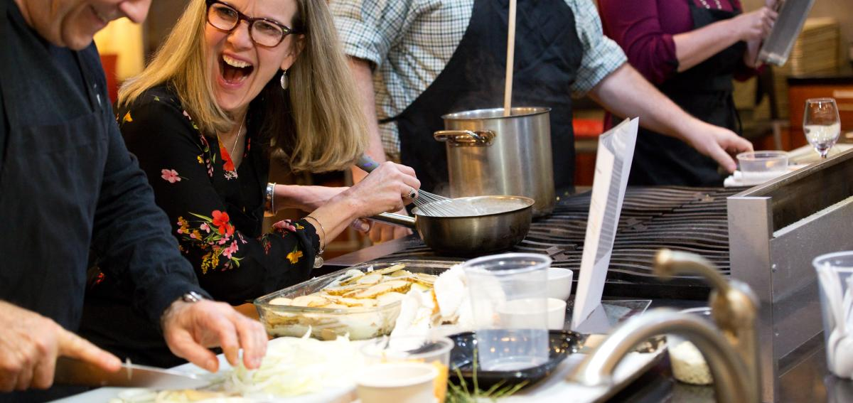 Hands on class at the New York Kitchen