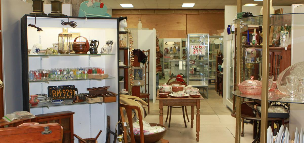 Peddlers Antiques on display