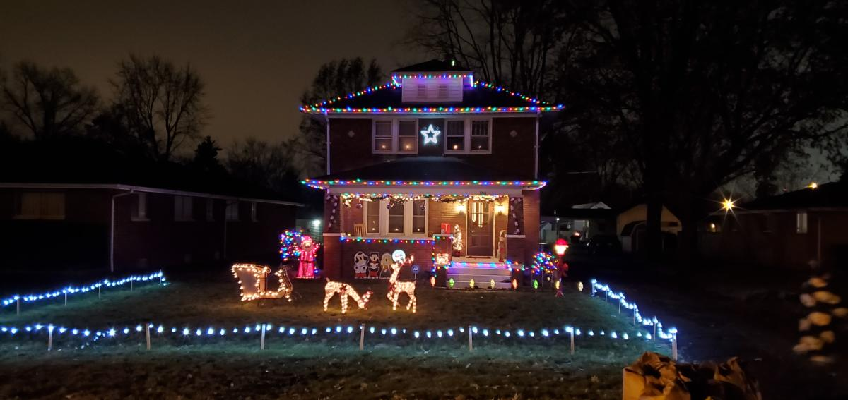 Christmas lights display at 3361 Sandpoint Rd. in Fort Wayne, Indiana