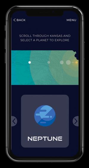 Kansas Cosmos App Screen