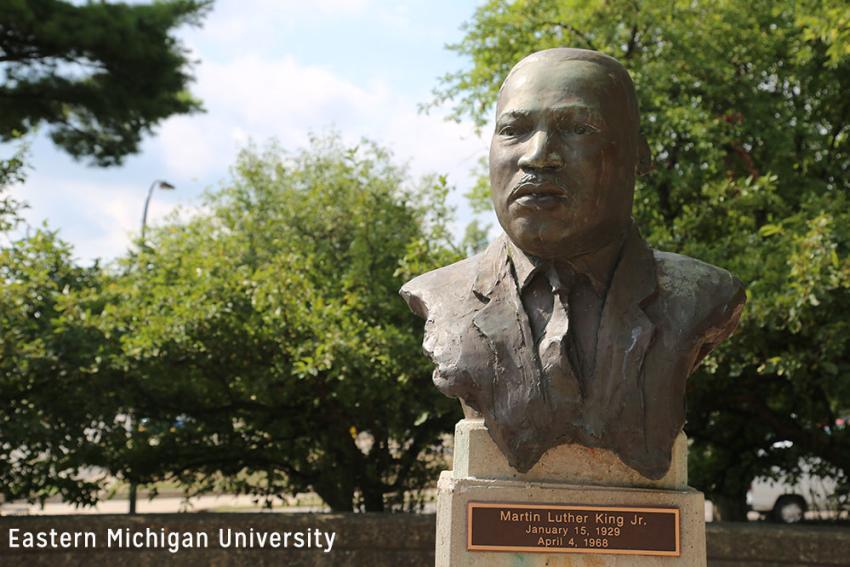MLK stature at Eastern Michigan University