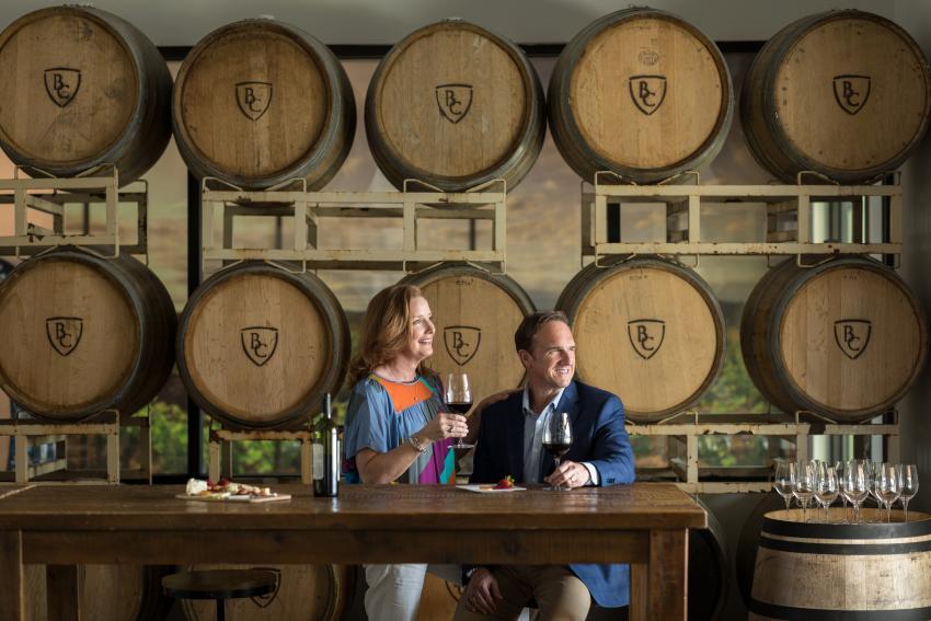 Barons Creek Vineyards Barrel Room