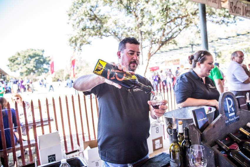 Food and Wine Fest features several wineries pouring tastes of Texas wines