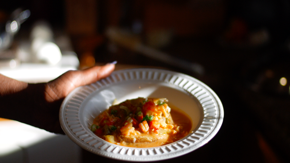 A dish at Miss Oddette's Creole Kitchen in SLO CAL