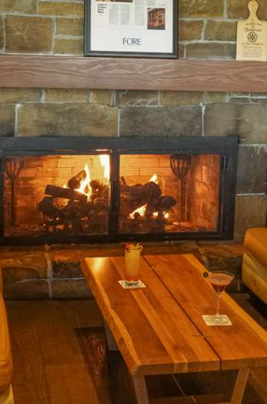 Cozy Fireplace at Cork | Fire Kitchen at Temecula Creek Inn