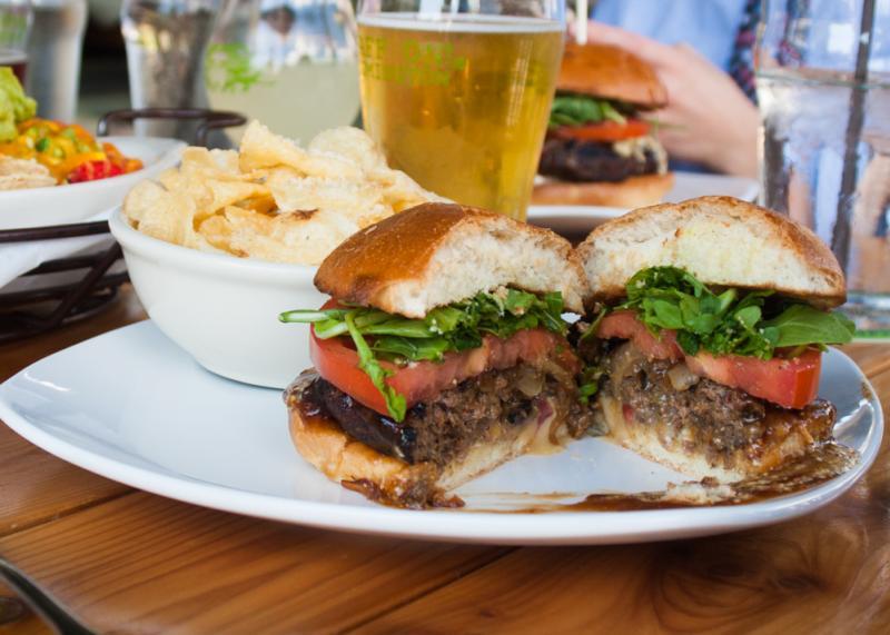 Burger from Big Woods Bloomington
