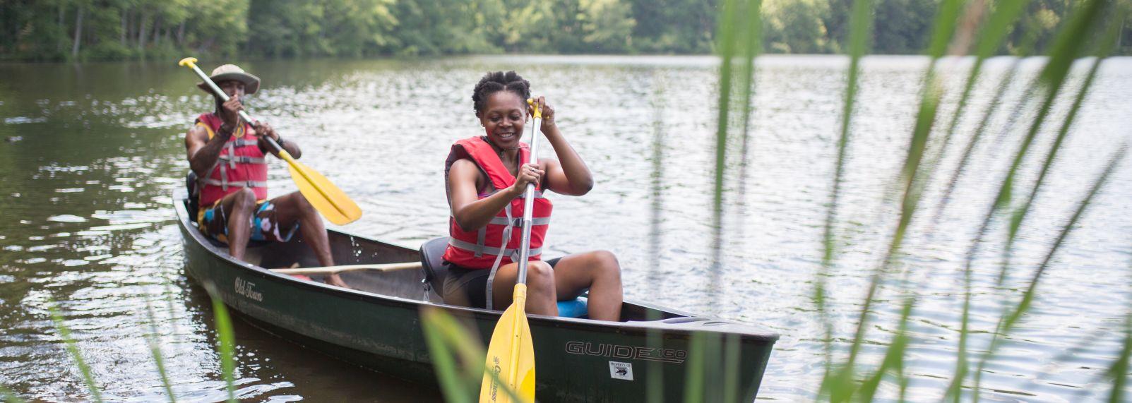 Umstead State Park Canoe Kayak Couple Date