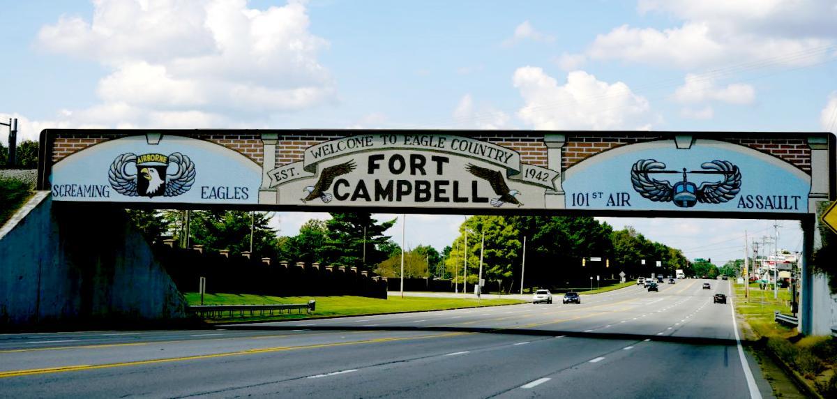 Fort Campbell Railroad Bridge Mural