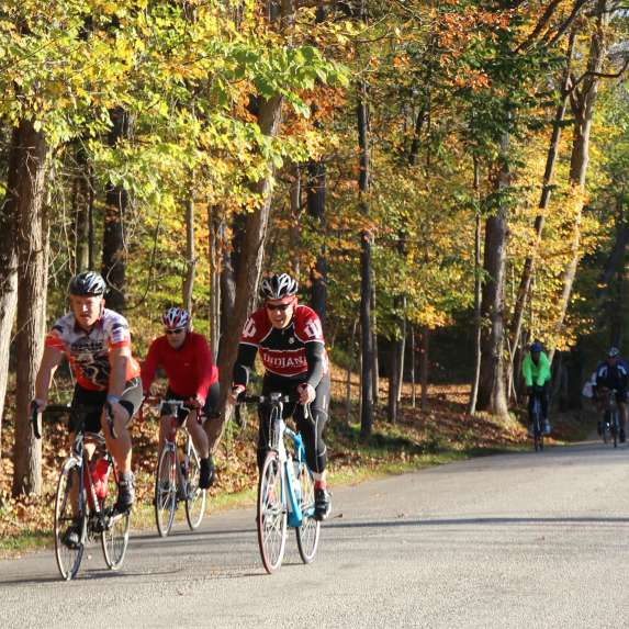 Cyclists riding the Hilly Hundred