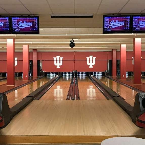Bowling lanes at IMU Bowling & Billiards