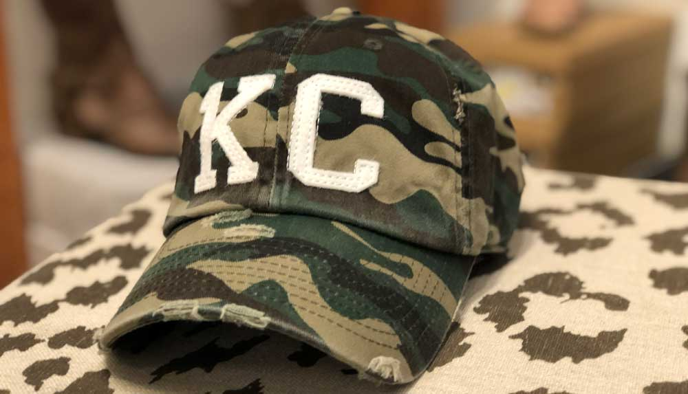 kc camo ball cap from Frankie and Jules in Overland Park