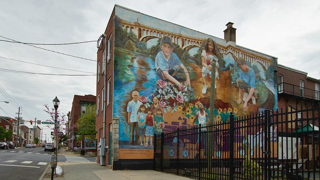 Allentown Mural - 'Building Bridges Embracing Change (2006)'
