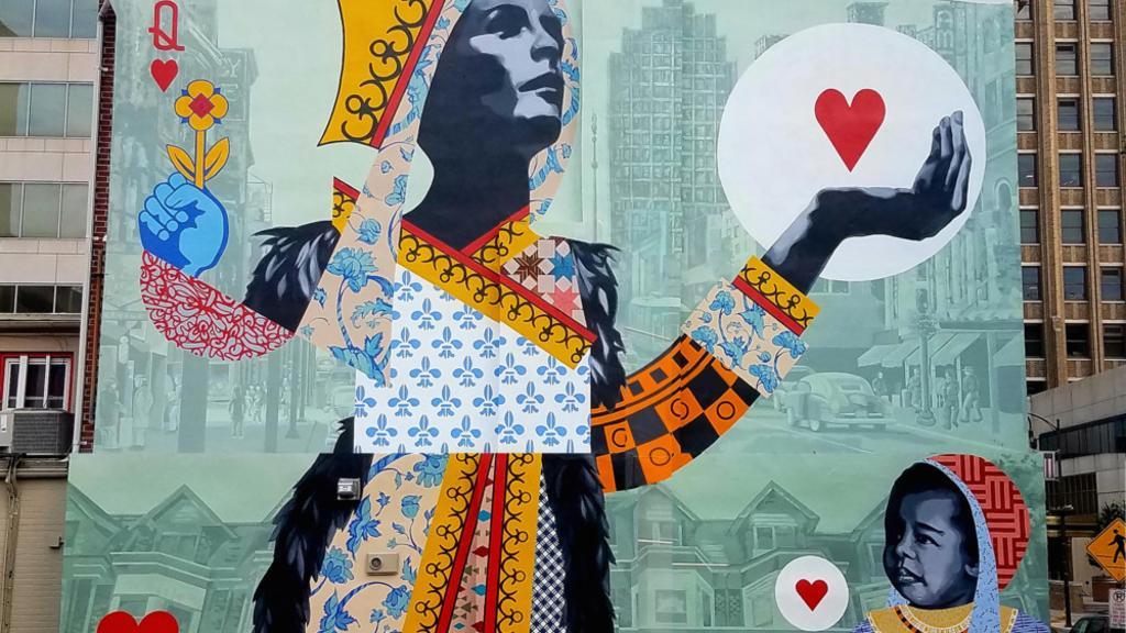 Allentown Mural - 'The Heart of Queen City (2019)'