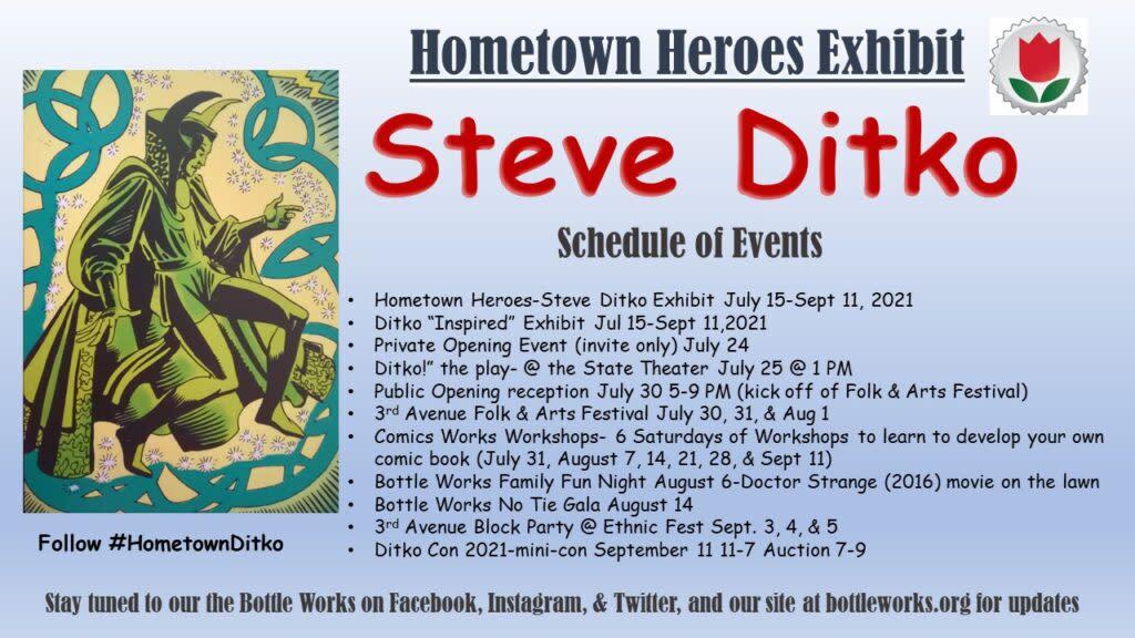 Hometown Heroes Exhibit - Steve Ditko