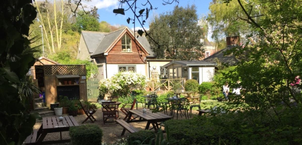 Outside The Wishing Well & Tea Gardens, Upwey