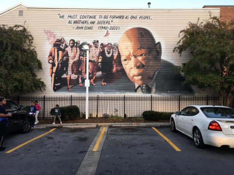 mural of John Lewis