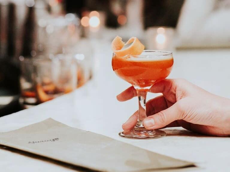 Cocktail at Garage bar in downtown Austin Texas