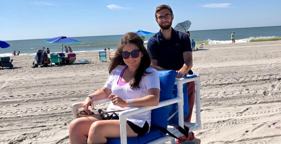 Beach Wheelchair on the beach