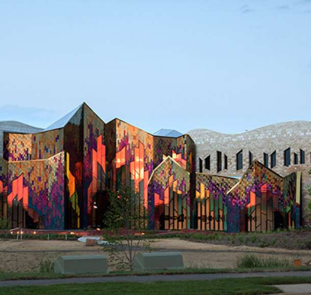 Museum at Prairiefire Sunset
