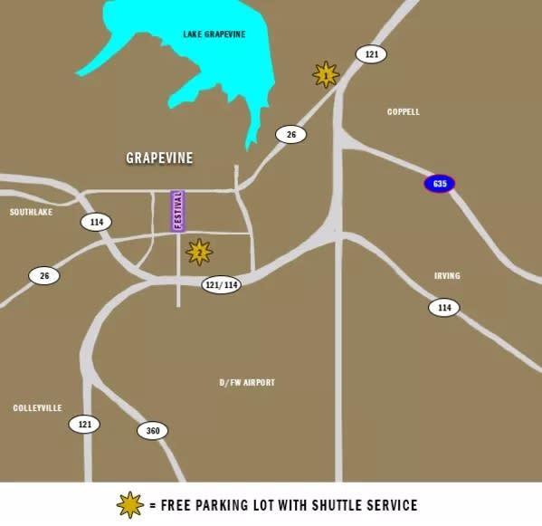 Parking Map - Shuttles