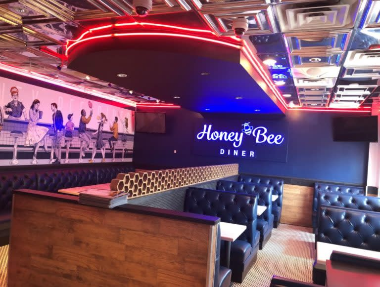 Interior of Honey Bee Diner located in Maryland