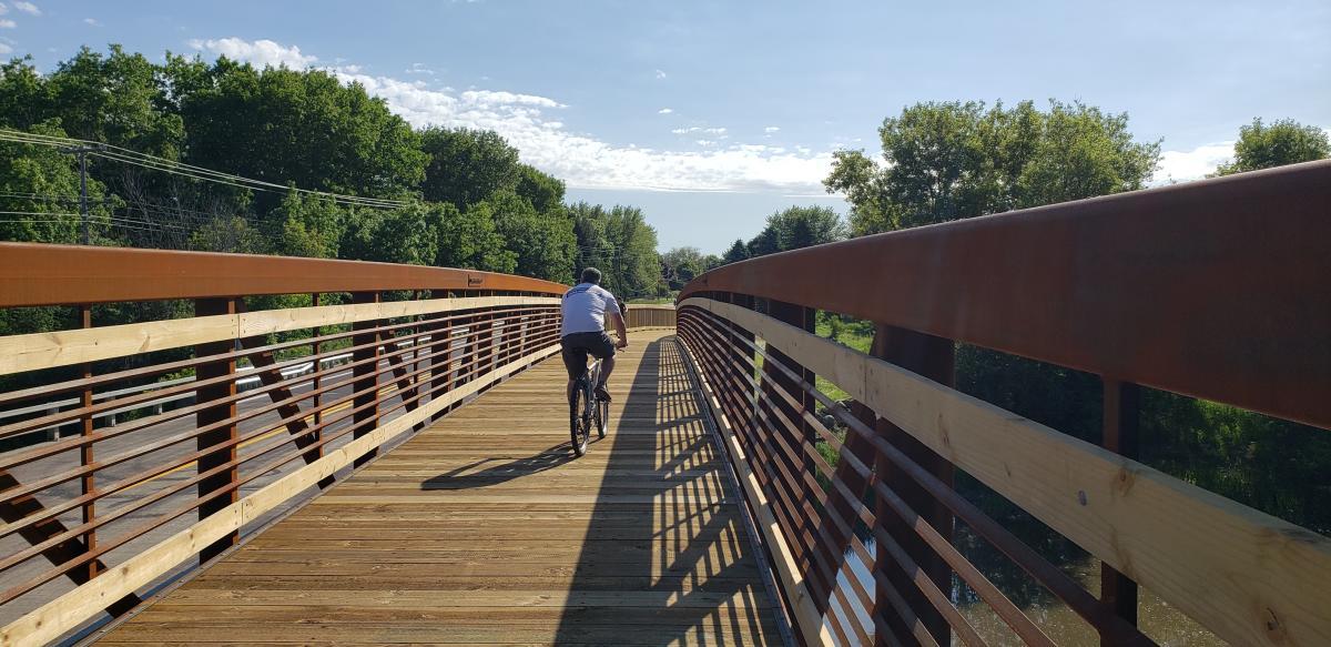 Highway C Bridge Connecting River Road to Prairie Farms Trail