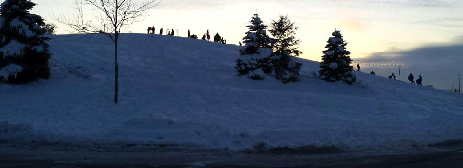 Sledding-Northwest-Indiana-Centennial-Park-Munster