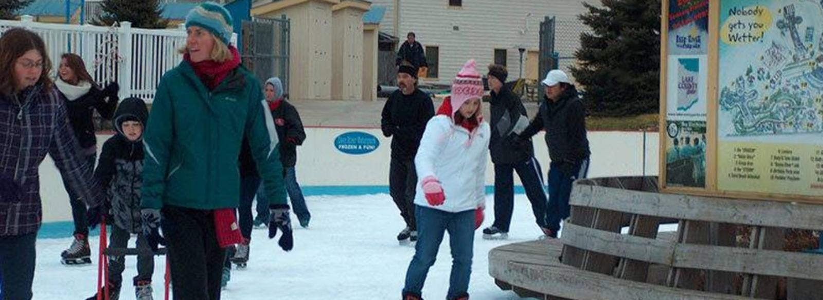 Ice Skating at Deep River Waterpark