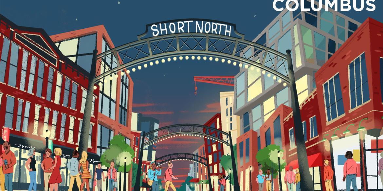 Short North Illustrated graphic