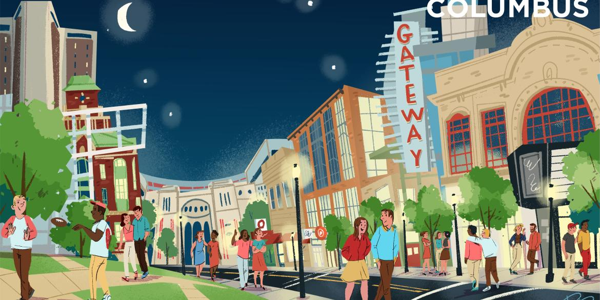 University District illustrated graphic