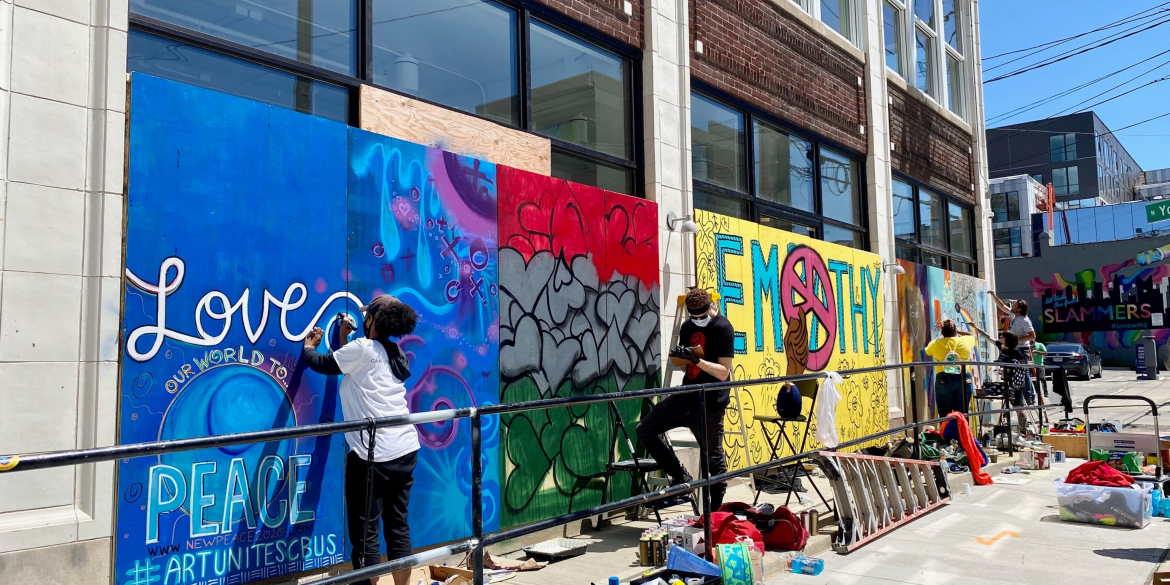 Black Lives Matter Mural painting in the Short North Arts District