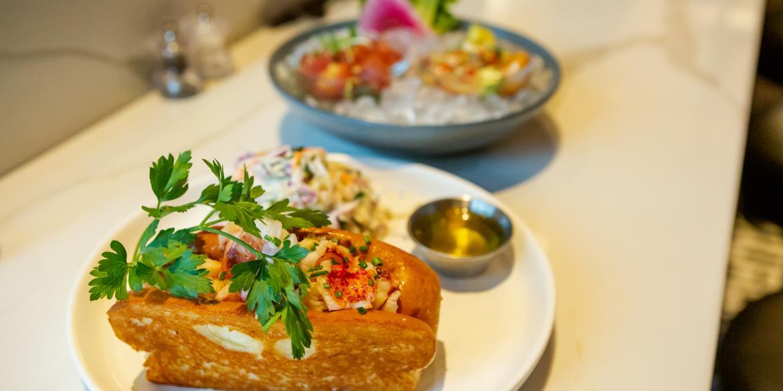 Sea food plates at Del Mar, a Cameron Mitchell restaurant in the Short North Arts District.