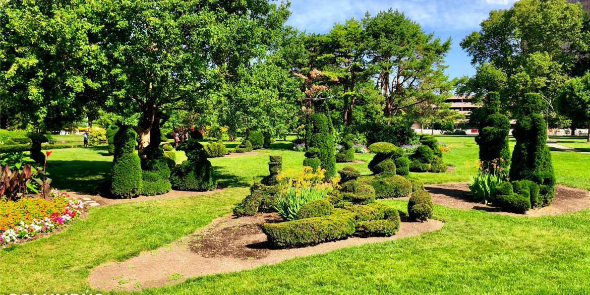 Topiary Park Zoom Background