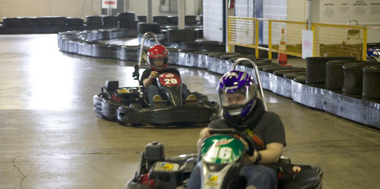 Indoor racing at Grand Prix Karting