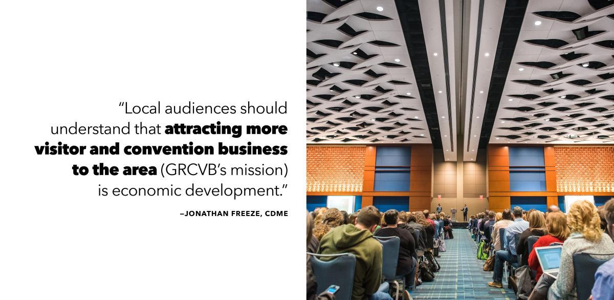 Attracting visitors is economic development
