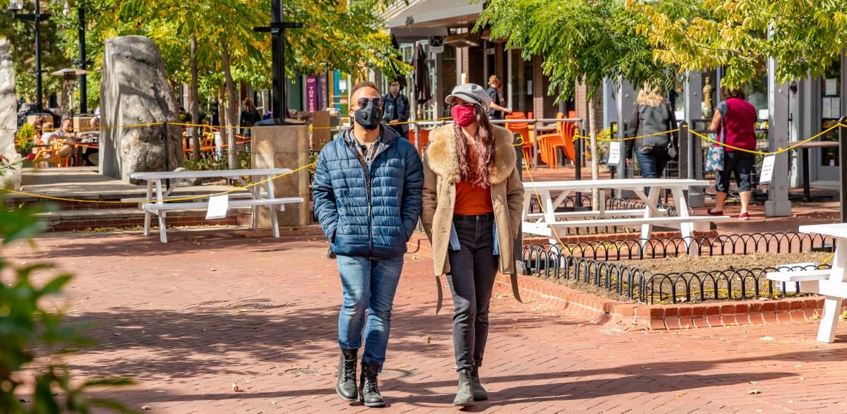 Pearl Street Fall with Masks