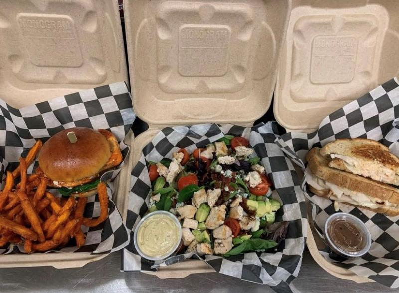 Burgers And Fries From Keagan's Takeout In Virginia Beach