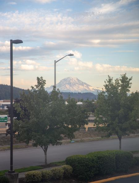 View from Holiday Inn Express in Sumner