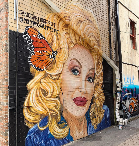 Dolly Mural In Knoxville, TN