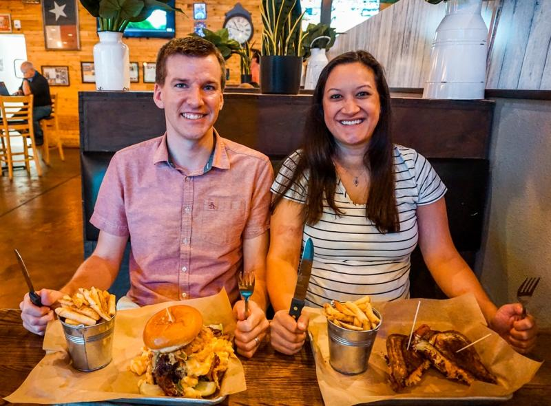 Couple with food