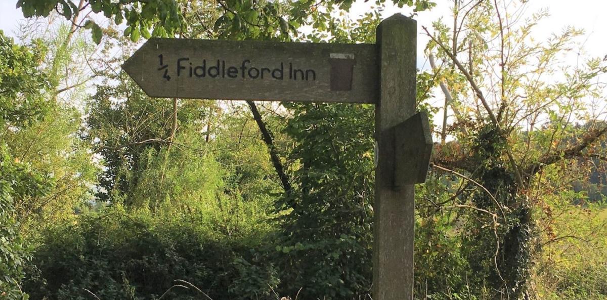 Fiddleford Inn signpost
