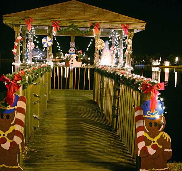 Island of Lights Christmas Dock