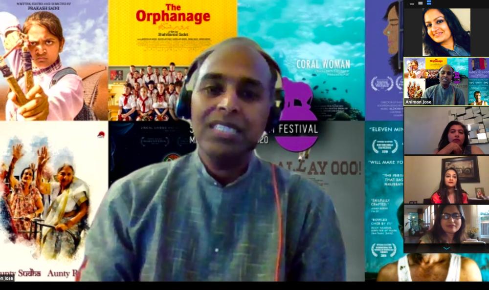 Men discusses film during virtual Indie Meme Film Festival Zoom