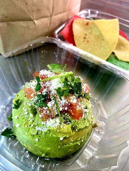 Fresh guacamole from tacos Friday Food Truck.