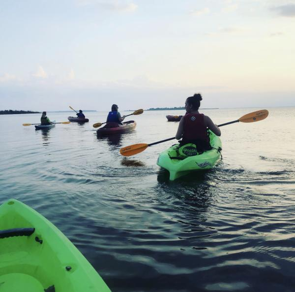 Kayaking Sandbridge False Cape