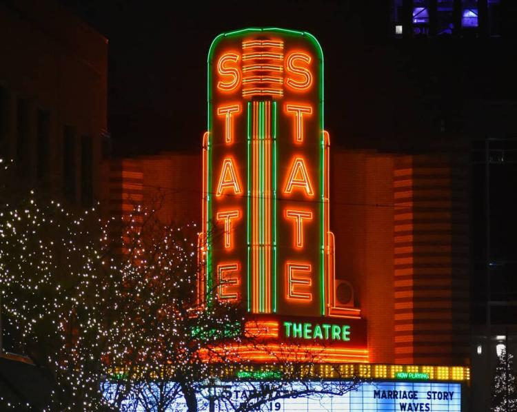 The State Theatre Lighted Marquee