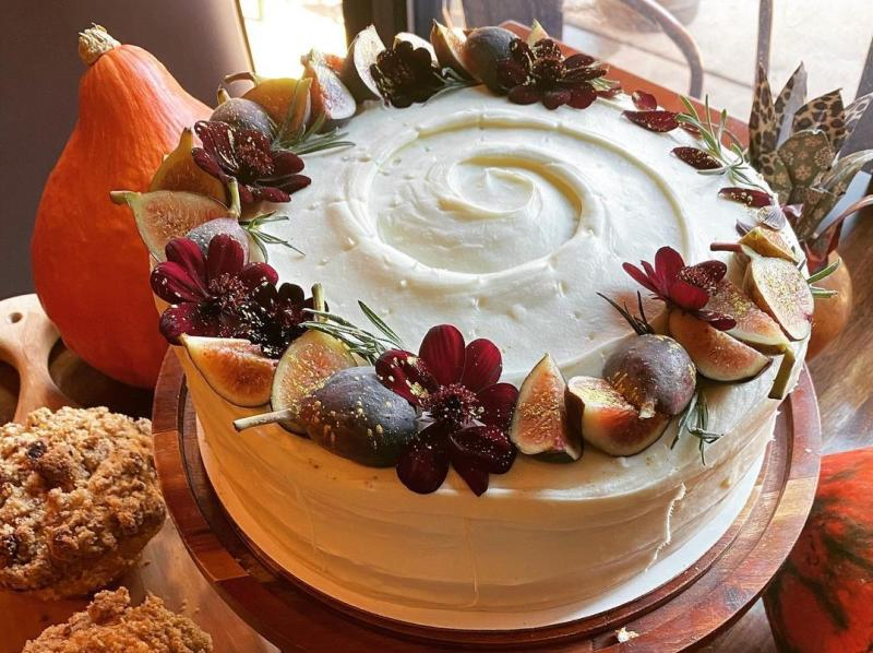 Fall-themed cake from Feast Market & Cellar