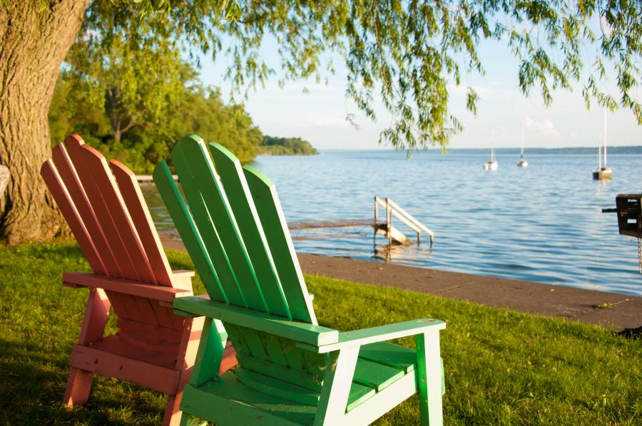 Adirondack Chairs on Seneca Lake